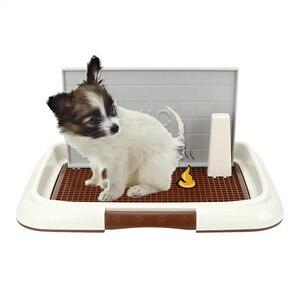 Image 1 - NICEYARD plateau litière pour chiots, bassin facile à nettoyer, toilette pour animaux de compagnie, formation pour pipi, toilette, treillis, cuvette pour chiens