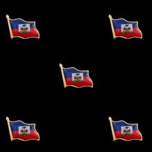 5PCS Haiti Flag Lapel Pin Wholesale Metal Enamel Pin and Brooches Badge Collar Safety Pins 5pcs american kentucky flag safety pin usa metal enamel pins and brooches for lapel pin backpack bags badge cool gifts