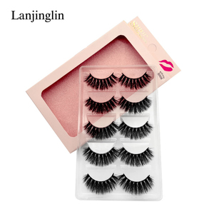 Image 3 - 5 Pairs 3D Eyelashes Hand Made Natural Long Faux Mink Lashes High Quality False Lash book Extensions Maquiagem Makeup cilios
