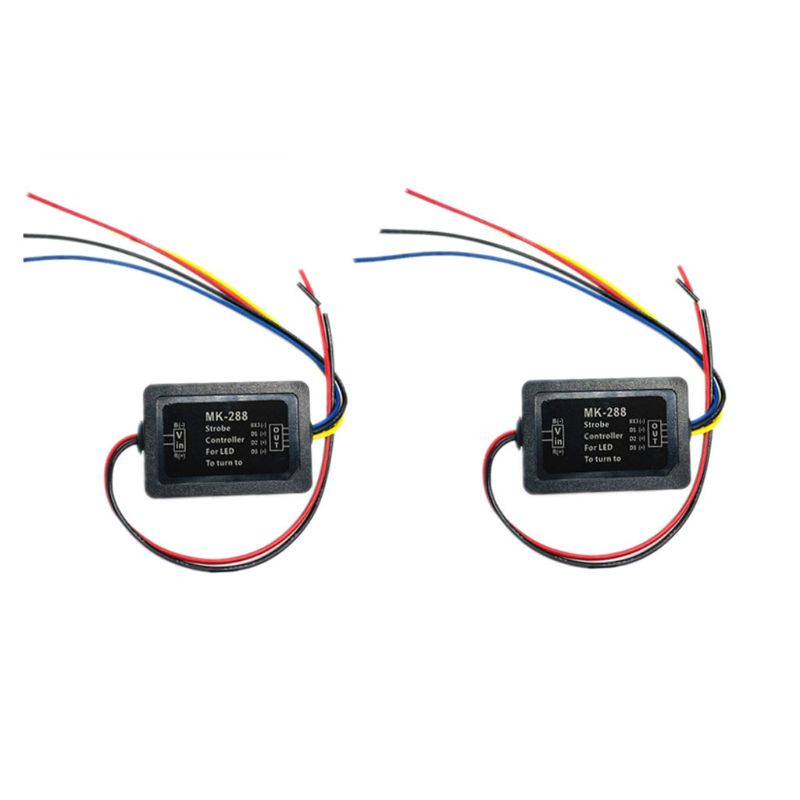 Pair 3-step Sequential Flow Semi Dynamic Chase Flash Tail Light Module Boxes Car Turn Signal Controller Motorcycles