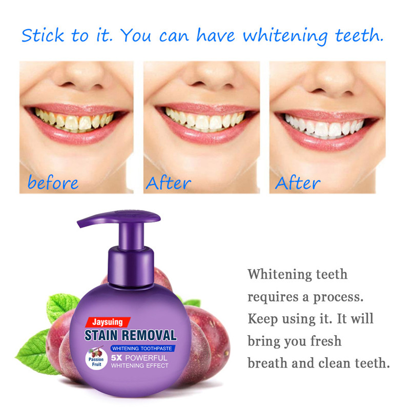 Stain Removal Whitening Toothpaste Fight Bleeding Gums Toothpaste Tooth Cleaning Oral Care Whitening Press Type Tooth Paste