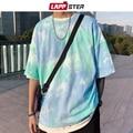 Lappster homens de grandes dimensões japonês streetwear buraco tshirts 2019 homens harajuku branco tshirt manga longa hip hop kpop roupas 5xl