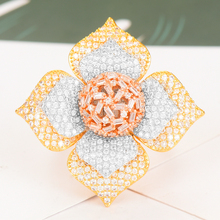 SISCATHY Famous Brand Charms Geometry Cubic Zironium Flower Rings For Women Engagement Dubai Bridal Finger Ring Jewelry 2020 цена и фото