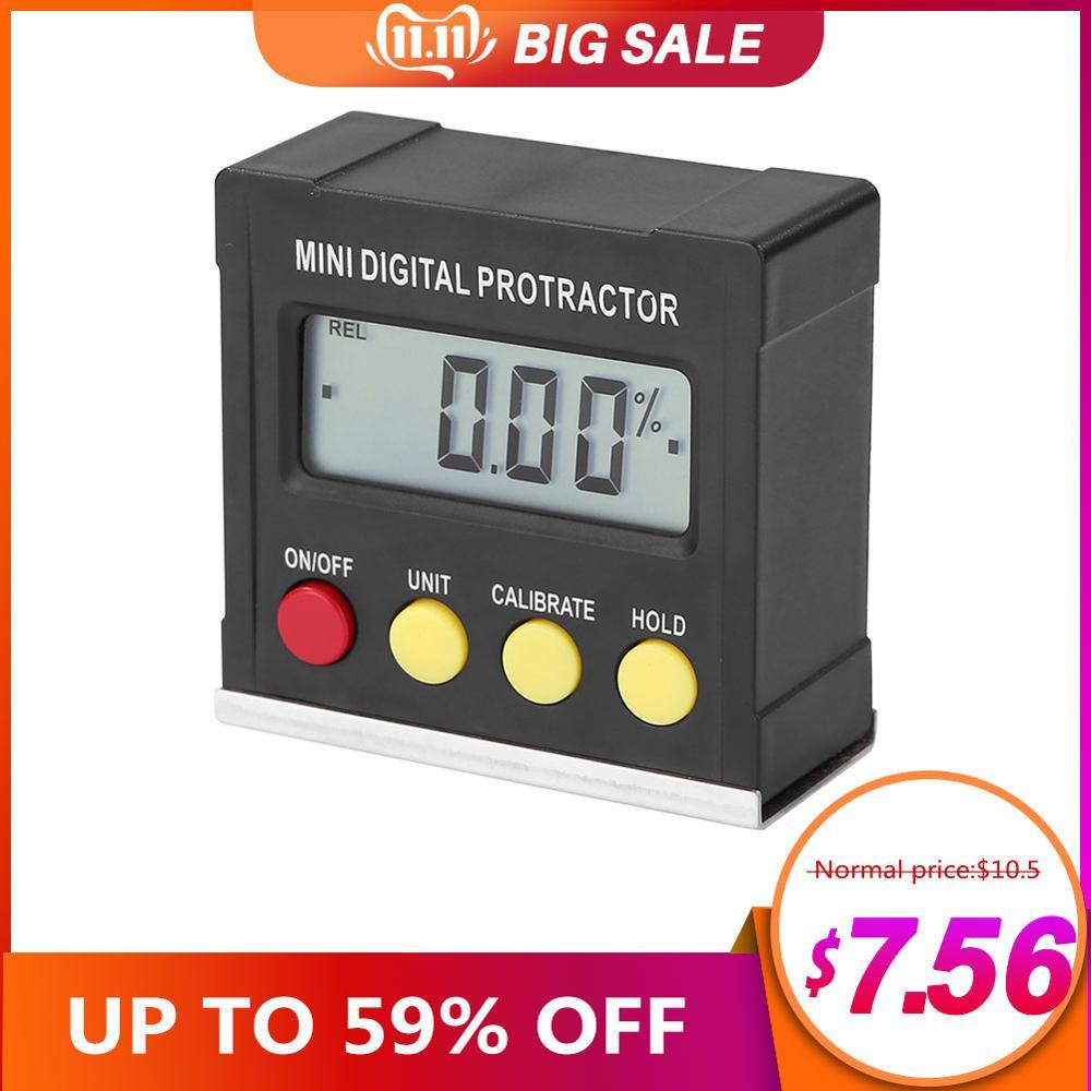 Ângulo horizontal medidor digital transferidor inclinômetro eletrônico nível caixa magnética base ferramentas de medição