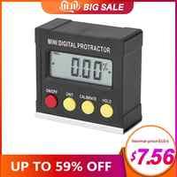 Medidor de ángulo Horizontal Protractor inclinómetro Digital caja de nivel electrónico herramientas de medición de Base magnética