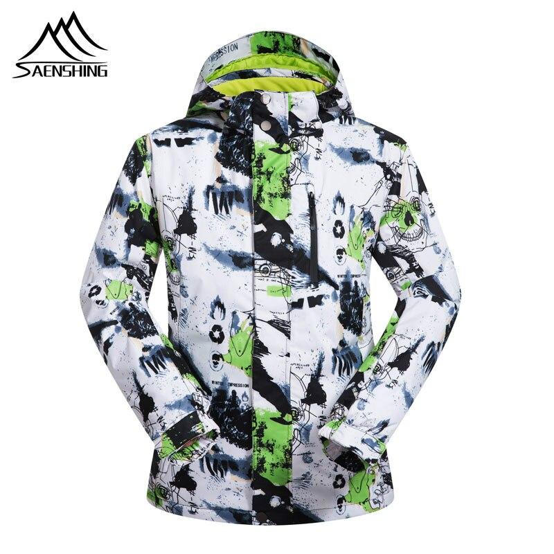 SAENSHING Winter Warm Men Ski Snow Jacket Warm Ski Jacket Coat Outdoor Sport Skiing Winter Men Waterproof Snowboard Windproof