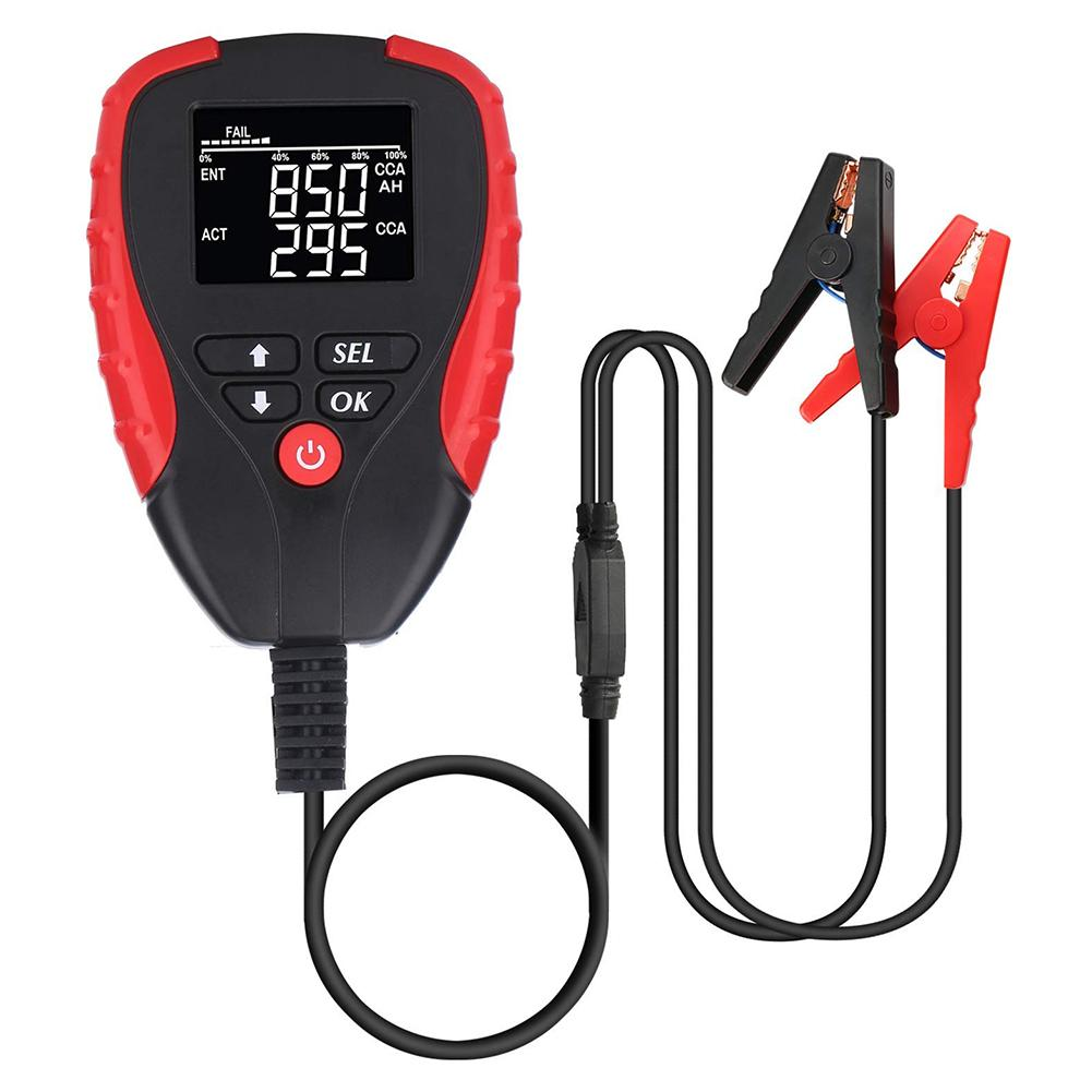 Digital 12V Car Battery Tester With CCA Mode Automotive Battery Electronic Load Battery Meter Analyzer Diagnostic Tool