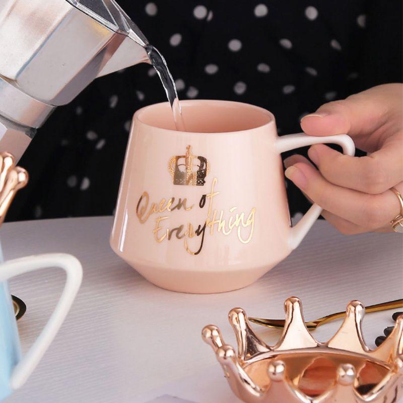 Coffee Mugs Cartoon MultiColor Mugs Cup Kitchen Tool Gift 1Pc Crown Theme Milk