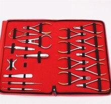 18 pçs/set Dentista instrumento de aço inoxidável Conjunto de Ferramentas alicates Ortodônticos Formando um alicate Ortodôntico ortodôntico Arco conjunto