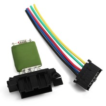 Heater Motor Blower Fan Resistor With Wiring Repair Plug Harness for FIAT Opel Vauxhall Corsa 13248240 77364061(China)