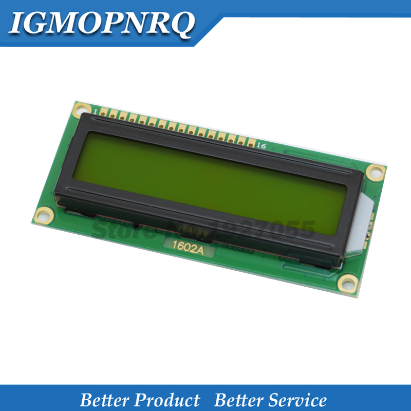 1pcs LCD1602 LCD 1602 Green Screen With Backlight LCD Display 1602A-5v