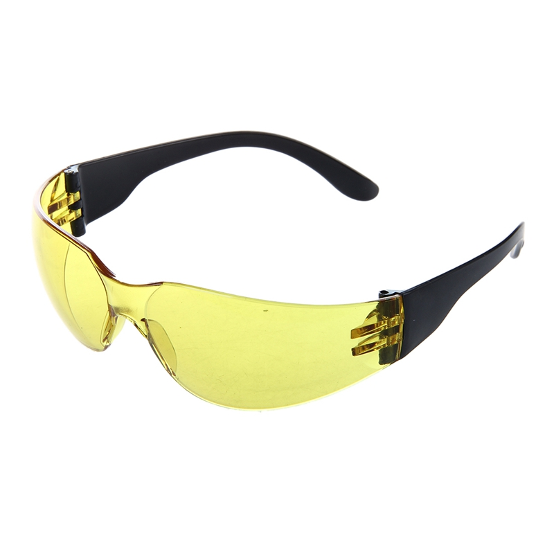 AAAE Top-Yellow Clear Lens Indoor Outdoor Sports Safety Glasses Protective Eyewear
