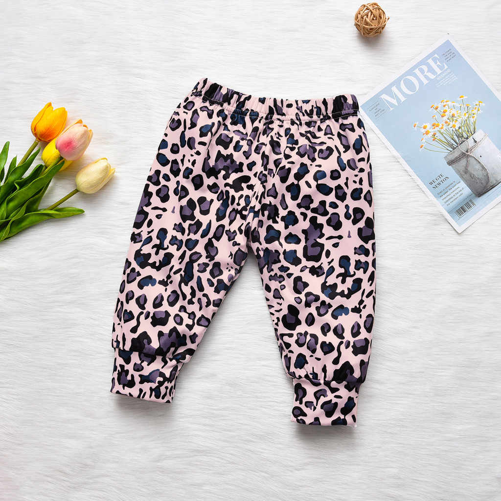 Recién Nacido, ropa de bebé niña ropa niña одежда для новорожденных manga larga carta Tops pantalones de leopardo diademas trajes conjunto