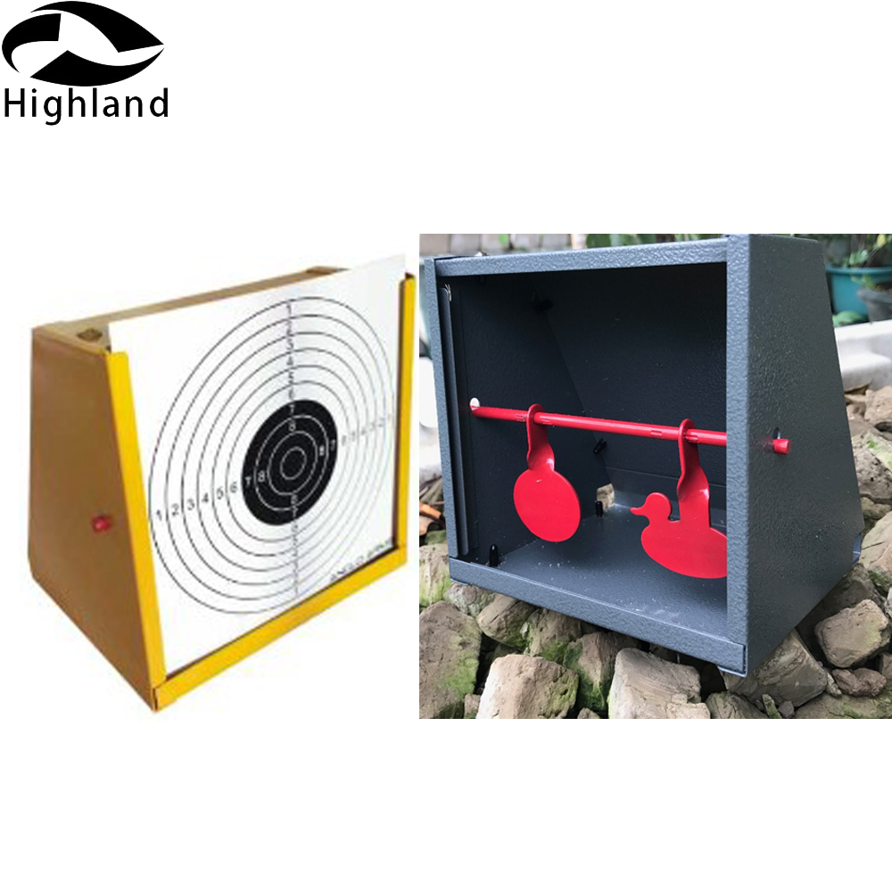 Steel with 20 Pieces of Target Paper Target Shooting for Children and Adult Pellet Trap and Airgun .177 BB Gun Airsoft Shooting