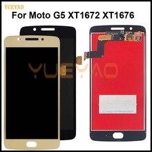 ЖК-дисплей для Motorola Moto G5, ЖК-дисплей, сенсорный экран, дигитайзер в сборе с рамкой, замена для Moto G5 XT1672 XT1676, дисплей