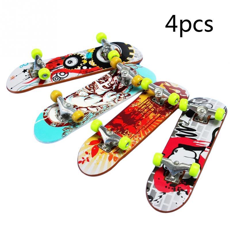 4 шт. высокое качество милые вечерние детские мини пальчиковые доски для пальцев сплав скейт-пансион игрушки подарок