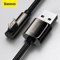 Baseus-Cable USB de carga rápida para móvil, Cable de carga de datos para iPhone 12 11 Pro Max X XR XS 8 7 6 6s iPad