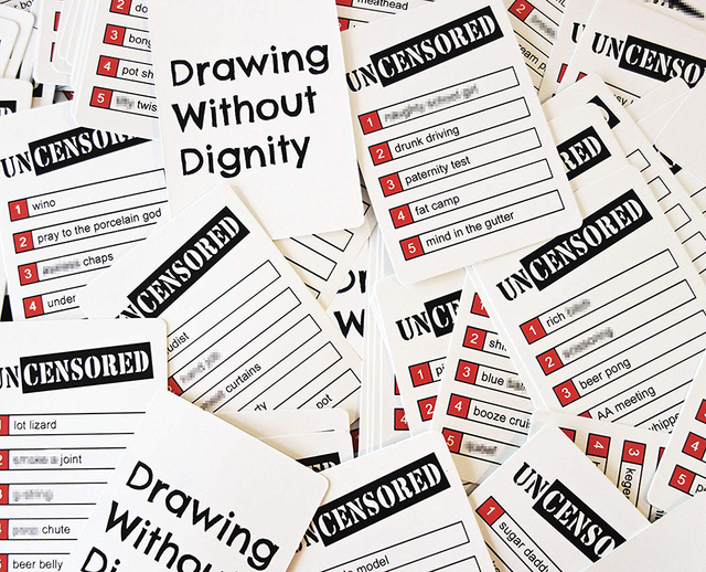 Drawing Without Dignity A NEW Adult Party Card Game of Uncensored Sketches Board Groups Families Friends Parties Gathering Gift 5