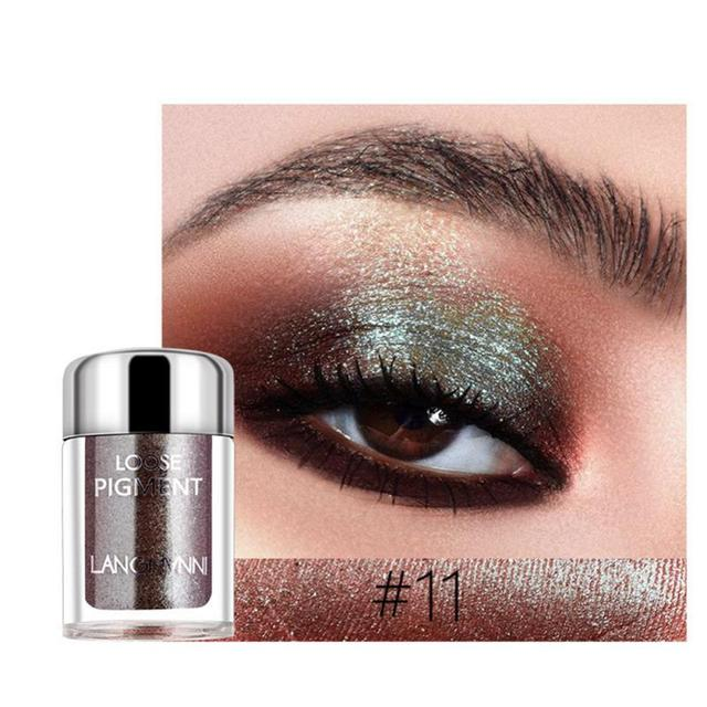 LANGMANNI Glitter Eye Shadow Metal Loose Powder Waterproof Flash Pigment Color Eye Shadow Powder Makeup Cosmetics TSLM1 4