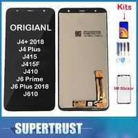 Original pour Samsung Galaxy J4 + 2018 J4 Plus J415 J415F J410 J6 Prime J6 Plus 2018 J610 LCD écran tactile capteur + Kit