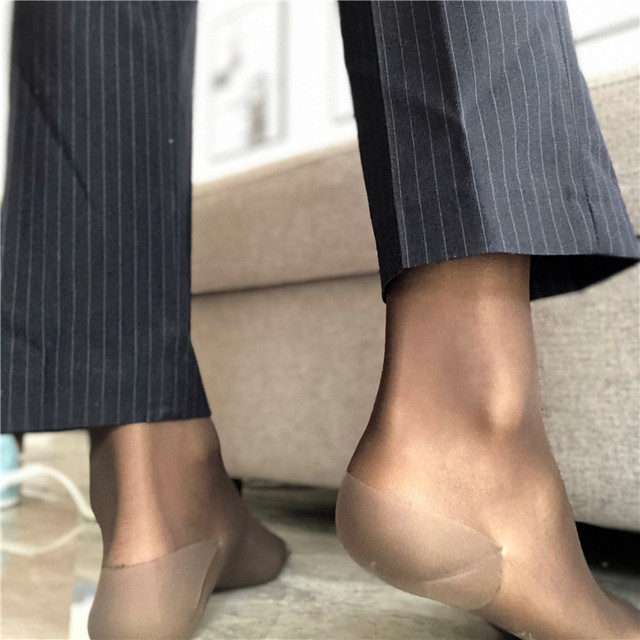 Шелковые носки, прозрачные тонкие, сексуальные, мягкие, формальные, парадные, шелковые носки для геев