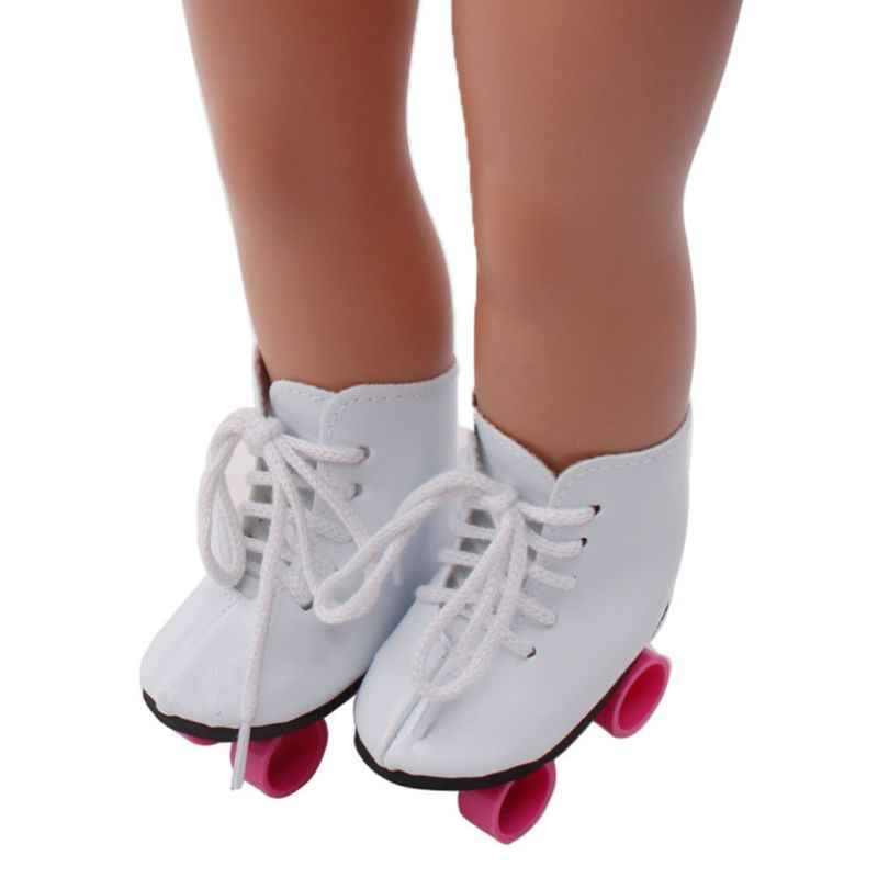 Super Cute Dress Up 18in Baby Changing Roller Skates Shoes Kids DIY Doll Taking Care Children Educational Toy Birthday Gift Y4QA