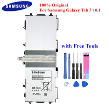 "100% Originele Tablet Batterij T4500E voor Samsung Galaxy Tab 3 10.1 ""GT P5210 P5200 P5220 P5213 6800mAh Akku met gratis Tools"