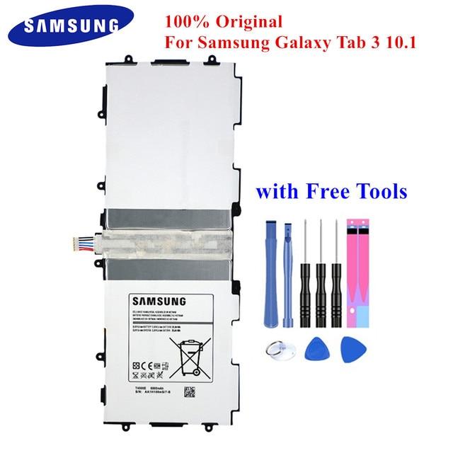 """100% מקורי לוח סוללה T4500E עבור Samsung Galaxy Tab 3 10.1 """"GT P5210 P5200 P5220 P5213 6800mAh Akku עם משלוח כלים"""