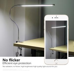 Image 3 - Lampe détude de travail à Long bras LED 48 LED s lampes de bureau à montage par pince lampe de lecture à protection oculaire Flexible USB.