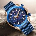 LIGE 2019 новые модные мужские часы с нержавеющей сталью  Топ бренд  роскошные спортивные кварцевые часы с хронографом  мужские часы