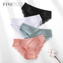 FINETOO M-XL kadın külot pamuk külot seksi dantel iç çamaşırı moda kızlar külot kadın külot bayan iç çamaşırı iç çamaşırı 2020