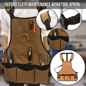 High quality Oxford Working Apron Collector Polyester Advanced Multifunctional Tool Storage Pockets carpenter garden studio(China)