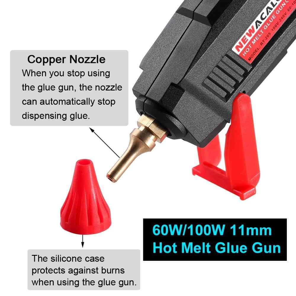 NEWACALOX 100-240V 60W/100W Hot Meltกาวปืน 11Mm Hot Meltกาวsticksอุณหภูมิความร้อนเครื่องมือMiniปืนThermo Gluegun