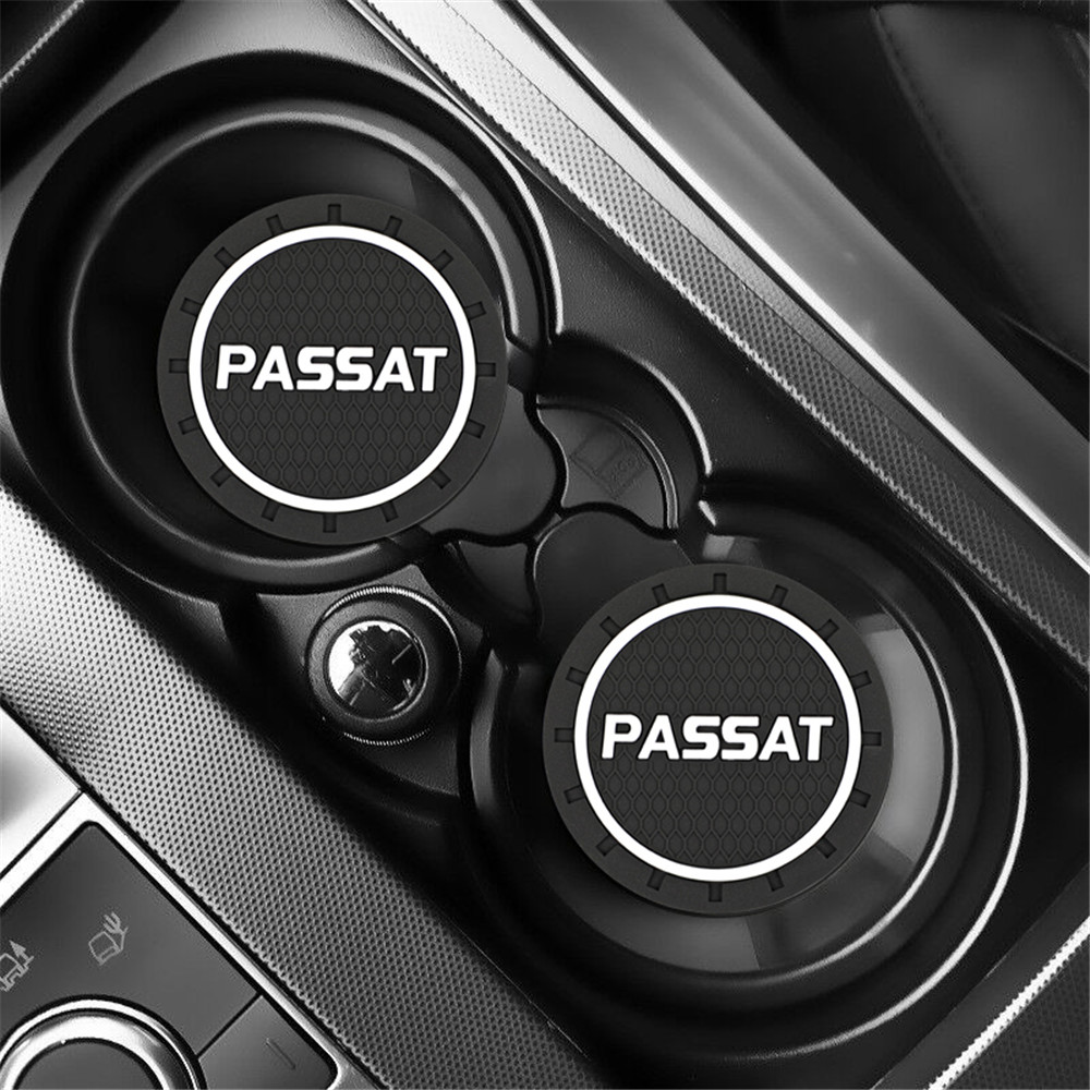 2pcs Car Auto Water Cup Slot Non-Slip Mat Accessories For <font><b>Volkswagen</b></font> VW <font><b>Passat</b></font> <font><b>B5</b></font> Jetta Bora Golf MK4 Polo Accessories image