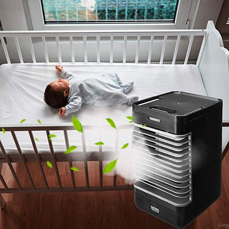 3 In 1 Mini USB Portable Air Conditioner Conditioning Humidifier Purifier Air Cooler Personal Space Cooling Fan For Office Home