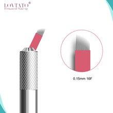 Micro-lames Tebori 0.15mm, aiguilles de tatouage, maquillage Permanent, Agulha 16, sourcil manuel plat, avec LOT NO.Exp Date