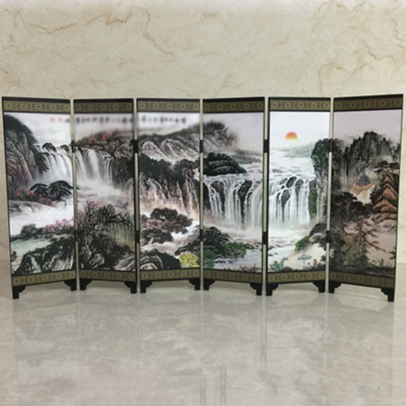 Decor Wall Divider Partition Screen Art Decal Kitchen Wooden Chinese Folding