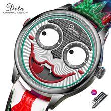 Novo relógio homem design criativo grande dial coringa quartzo relógios de pulso couro à prova dwaterproof água esportes cronógrafo relogio masculino