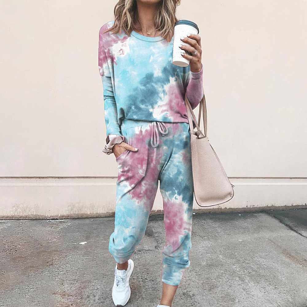 Women Tracksuit 2 Piece Set Tie Dye Sets Female Casual Outfits Joggers  Sportsuit Loose Sweatpants Matching Sets Plus Size|Women's Sets| -  AliExpress