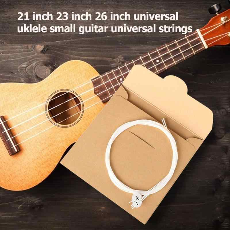 Durable Strings Multi-function Portable 4x Nylon Ukulele String Replacement Part for 21 23 26 inch Stringed Instrument