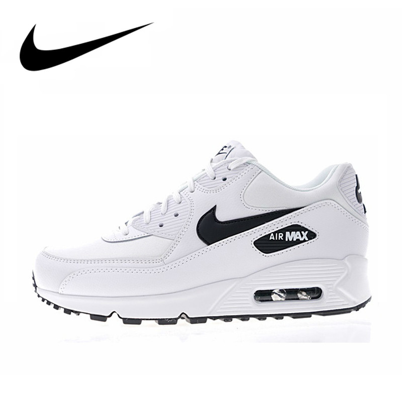 Original Authentic NIKE AIR MAX 90 ESSENTIAL Men's Running Shoes White Breathable Comfortable Sport Outdoor Sneakers 325213-131