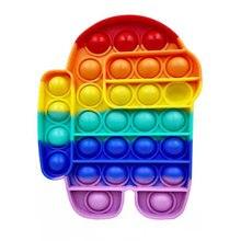 Fidget brinquedo pop bolha sensorial autismo squishy stress reliever brinquedos adulto criança engraçado anti-stress empurrá-lo fidget reliver estresse