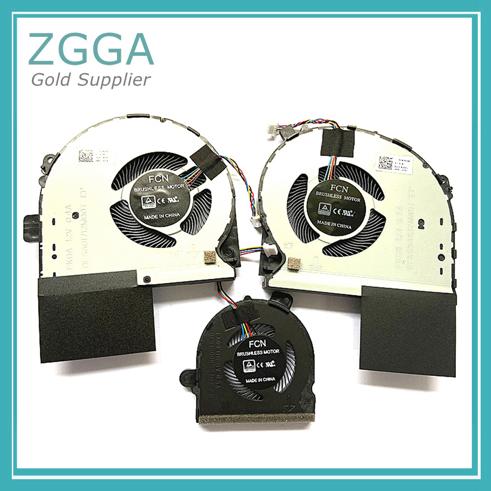 Original New Notebook Cpu Cooler Fan For ASUS GL703 gl703GS S7B Laptop CPU Cooling Fan FK08 FK09 FK0A DC 12V 0.4A 4 Pin image