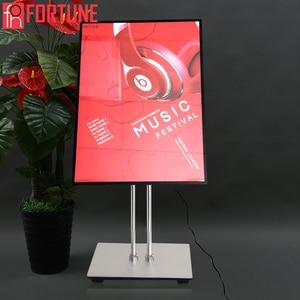 Image 2 - Marco LED para póster de restaurante, cajas de luz de publicidad, de vidrio templado, ultrafina, se puede colgar en la pared
