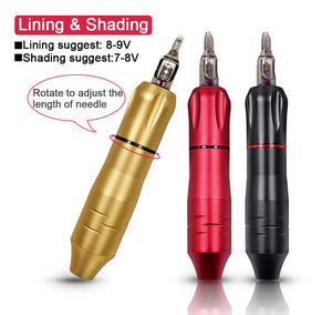 Image 5 - רוטרי קעקוע מכונת עט w/מחסנית מחט קעקוע אקדח גבות איפור קבוע מכונת עבור Micblading קעקוע אמן מתחיל