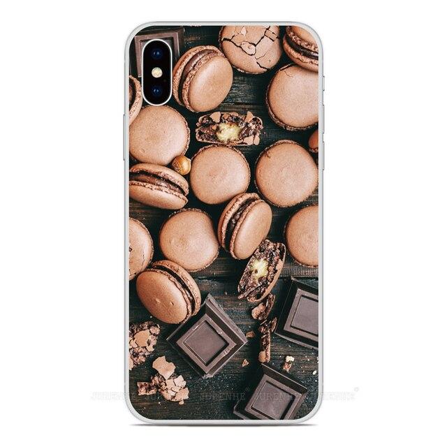 Coque de téléphone souple en caoutchouc pour motif de beignet en chocolat pour Oukitel C17 C16 C15 C13 C12 C11 Pro K9 U25 Pro U22