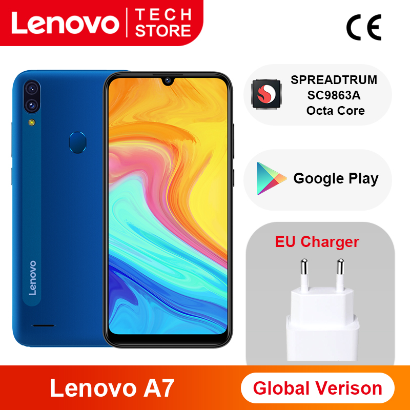 Lenovo A7 SPREADTRUM SC9863A 32GB GSM/LTE 5g wi-Fi/bluetooth 5.0 Octa Core Face Recognition/fingerprint Recognition
