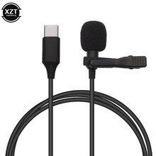 Mini microfone usb tipo c, microfone de áudio condensador para huawei xiaomi samsung android phone usb c microfone