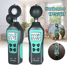 FY836 Portable Digital Lux Meter LCD Display Handheld Luminometer Photometer Light Meter Max 200000 Lux CLH@8