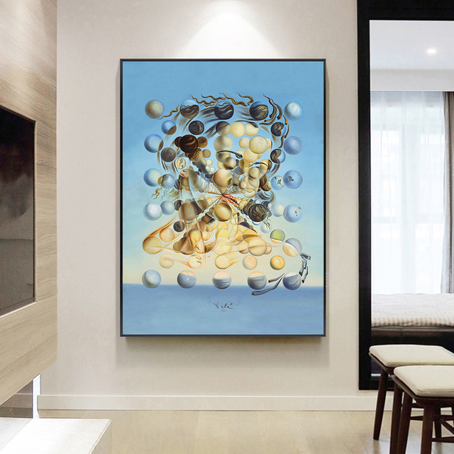 Famous Painting Salvador Dali Galatea Spheres Oil Painting Canvas Painting Wall Art for Living Room Home Decor (No Frame) 3